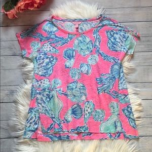 Lilly Pulitzer Barefoot Princess Pink Top